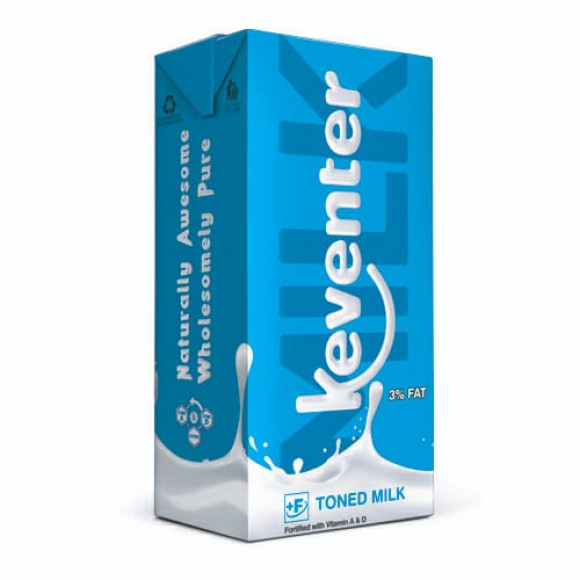 Keventer TONNED Milk Packet - 3% FAT