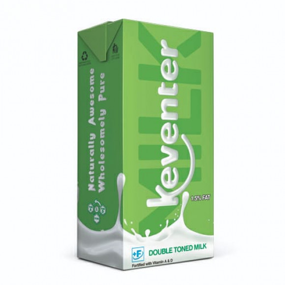 Keventer DOUBLE TONNED Milk Packet - 1.5% FAT