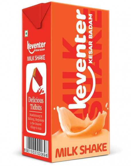 Keventer KESAR BADAM MILKSHAKE 150 ML Pack